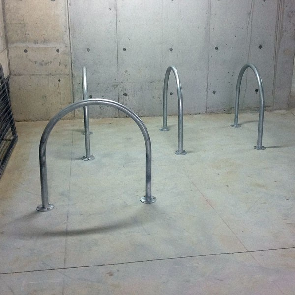 Large U Shape Bike Rack 800mm Wide Baseplate Bollard